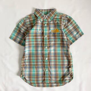 ザノースフェイス(THE NORTH FACE)のTHE NORTH FACE 130cm 半袖チェックシャツ(Tシャツ/カットソー)