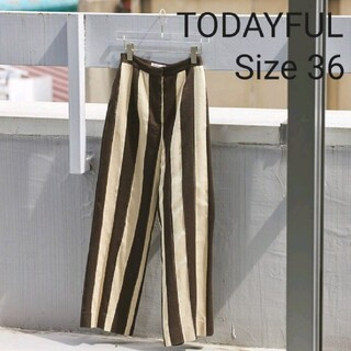TODAYFUL - 【TODAYFUL】Jacquard Stripe Pants 36