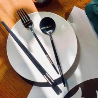 スタバ 台湾 スターバックス カトラリーセット 箸 フォーク スプーン(カトラリー/箸)