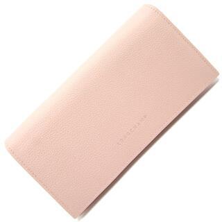 ロンシャン(LONGCHAMP)の ロンシャン 二つ折り長財布 ル フローネ ライトピンク(財布)
