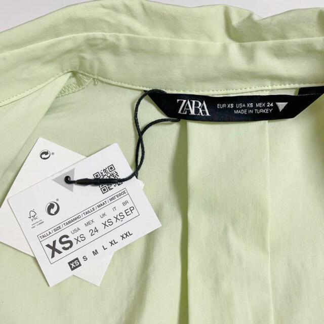 ZARA(ザラ)のZARA ザラ クロップド 丈 シャツ ジャケット XS 新品 タグ付き レディースのトップス(シャツ/ブラウス(長袖/七分))の商品写真