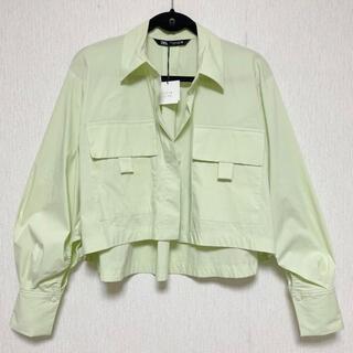 ZARA - ZARA ザラ クロップド 丈 シャツ ジャケット XS 新品 タグ付き