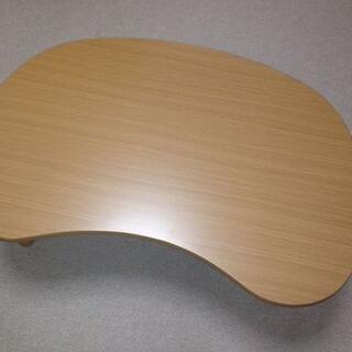ニトリ - ニトリ ビーンズ型ローテーブル ナチュラルベージュ 木目調  希少品♪♪