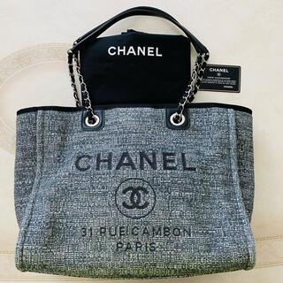 CHANEL - 美品限定品 CHANEL ドーヴィル チェーン トートバッグ ココマーク ロゴ