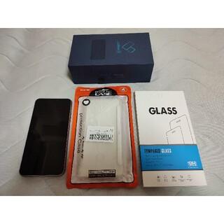 ASUS - ASUS Zenfone5 スペースシルバー 新品ケース、ガラスフィルム付き