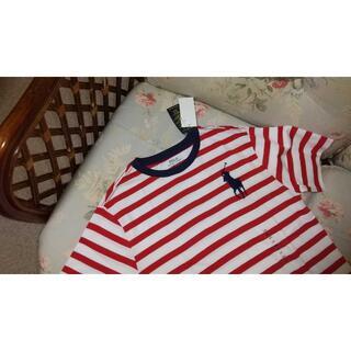 ラルフローレン(Ralph Lauren)の新品☆ラルフローレン ボーダーTシャツ 160 赤白(Tシャツ/カットソー)