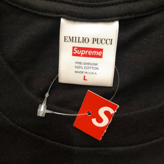 Supreme(シュプリーム)のSupreme Emilio Pucci Box Logo Tee 黒青L メンズのトップス(Tシャツ/カットソー(半袖/袖なし))の商品写真
