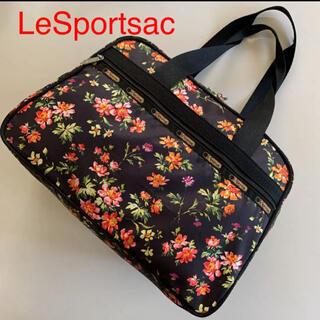 LeSportsac - LeSportsac レスポートサック 鍵付 ボストンバッグ フラワー