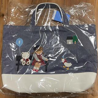 familiar - 1. 【ゆうパック発送】ファミリア 神戸本店限定 70周年 マチ付きデニムバッグ