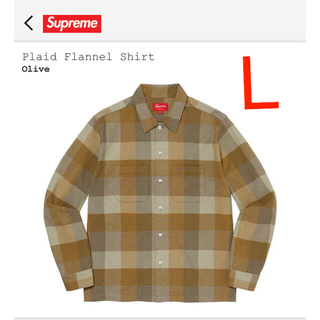 Supreme - supreme plaid flannel shirt olive L