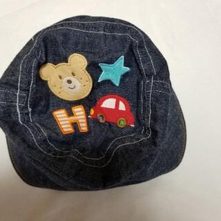 ミキハウス(mikihouse)の48cm デニム地風 MIKI HOUSE ホットビスケッツ(帽子)
