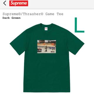 Supreme - supreme thrasher game tee green L