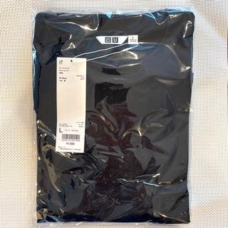ユニクロ(UNIQLO)のUNIQLO U  エアリズムコットン オーバーサイズT L  ブラック ☆新品(Tシャツ/カットソー(半袖/袖なし))