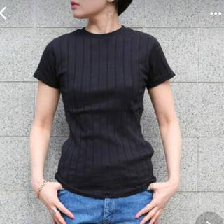 IENA - ヤングアンドオルセン  リブTシャツ 1  ブラック