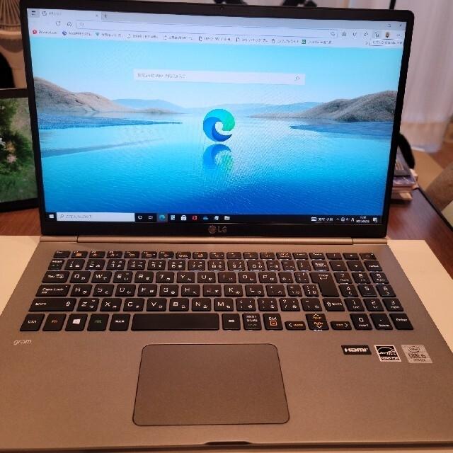 LG Electronics(エルジーエレクトロニクス)のLG gram 15Z995-GP52J (15.6インチ/win10pro) スマホ/家電/カメラのPC/タブレット(ノートPC)の商品写真