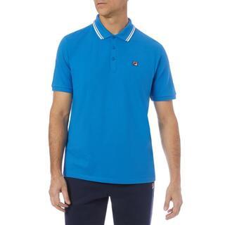 フィラ(FILA)の【新品】US-M /FILA 半袖ポロシャツ メンズ ブルー(ポロシャツ)