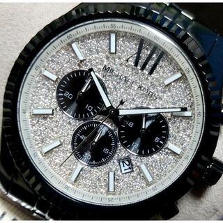 マイケルコース(Michael Kors)のMICHAEL KORS マイケルコース LEXINGTONブラック×クリスタル(腕時計(アナログ))