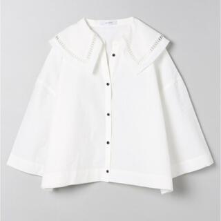 JEANASIS - JEANASIS カットワークカラーショートシャツ/943114