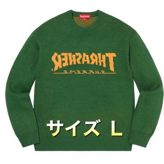 Supreme - supreme × thrasher sweater green L セーター