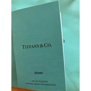 ティファニー(Tiffany & Co.)のティファニー sheer シアー オードトワレ 1.2ml  香水 ミニサンプル(香水(女性用))