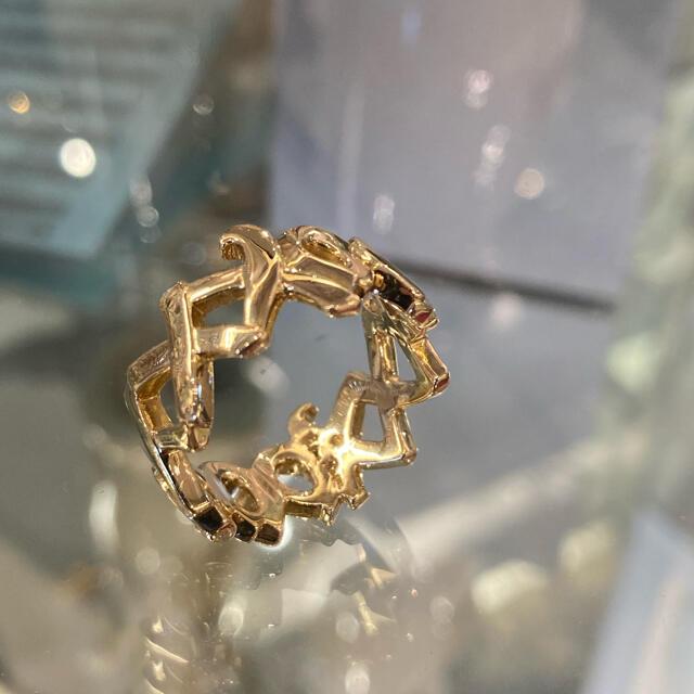 Tiffany & Co.(ティファニー)のティファニー ラブ&キス リング 14.5号 K18YG 美品 新品仕上げ済 レディースのアクセサリー(リング(指輪))の商品写真