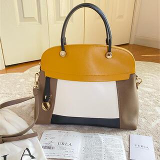 Furla - 専用💐6万円❤️美品本物⭐フルラ ブロックデザイン パイパーレザーハンドバッグ