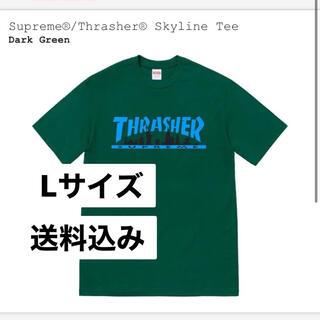 Supreme - 送料込み Supreme thrasher Skyline tee Tシャツ 緑