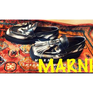 Marni - 定価10万円 MARNI❗️ 19AW スクエアタッセルローファー 27.5cm