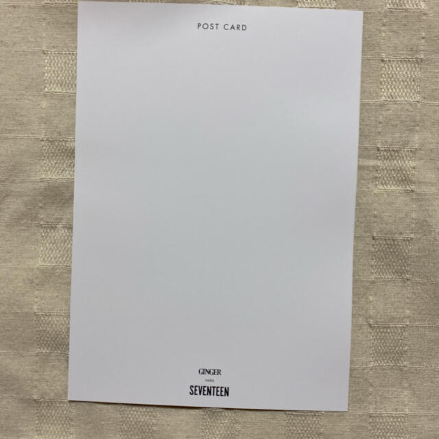 SEVENTEEN(セブンティーン)のGINGER 11月号 ポストカード(ミンギュver.) エンタメ/ホビーのタレントグッズ(アイドルグッズ)の商品写真
