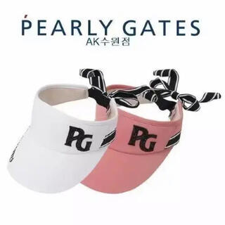 PEARLY GATES - 【PEARY GATES】リボン サンバイザー