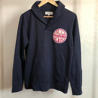 トミー(TOMMY)の古着 TOMMY ワッペンと大きな刺繍のカットソー◇Sサイズ◇M-0238(Tシャツ/カットソー(七分/長袖))