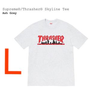 Supreme - Supreme®/Thrasher® Skyline Tee アッシュグレー L
