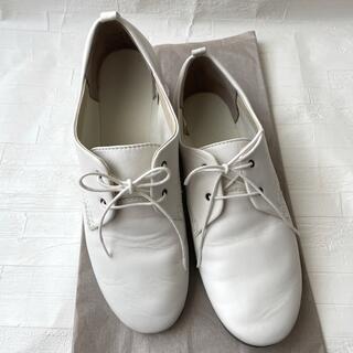 ムジルシリョウヒン(MUJI (無印良品))の無印良品 レースアップシューズ 白 24㎝(ローファー/革靴)