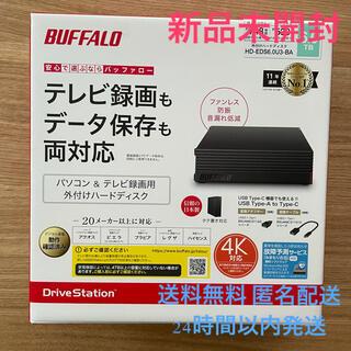 バッファロー(Buffalo)の【新品未開封】外付けHDD BUFFALO HD-EDS6.0U3-BA 6TB(PC周辺機器)