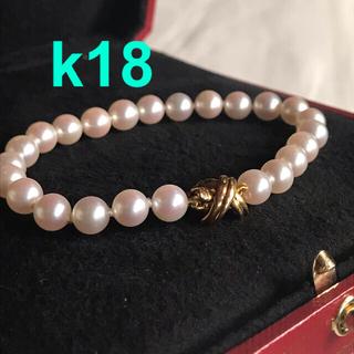 Tiffany & Co. - ティファニー パールシグネチャーブレスレット k18  18k 18金