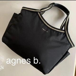 agnes b. - agnès b. アニエスベー ナイロン トートバッグ 黒 美品