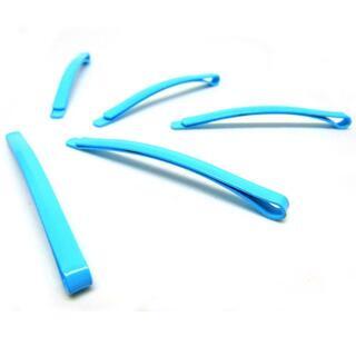 幅広カラーヘアピン5本セット スカイブルー //ab6(小道具)