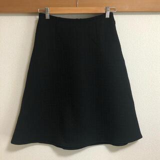 フォクシー(FOXEY)のフォクシー フレアスカート 黒色 40 M 膝丈 台形 Aライン 無地(ひざ丈スカート)