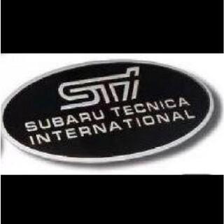 スバル(スバル)のSUBARU STI円形アルミエンブレム値下げ!(車外アクセサリ)