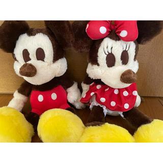 ミッキーマウス(ミッキーマウス)のミッキー&ミニーぬいぐるみ(ぬいぐるみ)