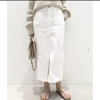 L'Appartement DEUXIEME CLASSE - 【美品】アパルトモン ホワイトデニムスカート