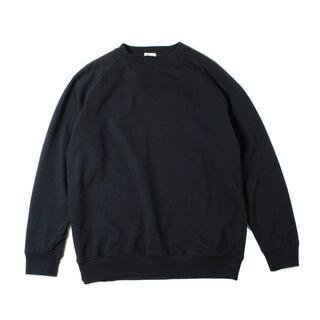 コモリ(COMOLI)のCOMOLI インレイ起毛長袖クルー ネイビー(Tシャツ/カットソー(七分/長袖))