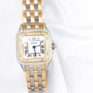 Cartier - 【仕上済】カルティエ パンテール 3ロウ SM ダイヤ レディース 腕時計