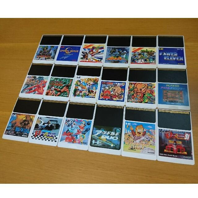 NEC(エヌイーシー)のPCエンジンソフト 18本セット 起動確認済 エンタメ/ホビーのゲームソフト/ゲーム機本体(家庭用ゲームソフト)の商品写真