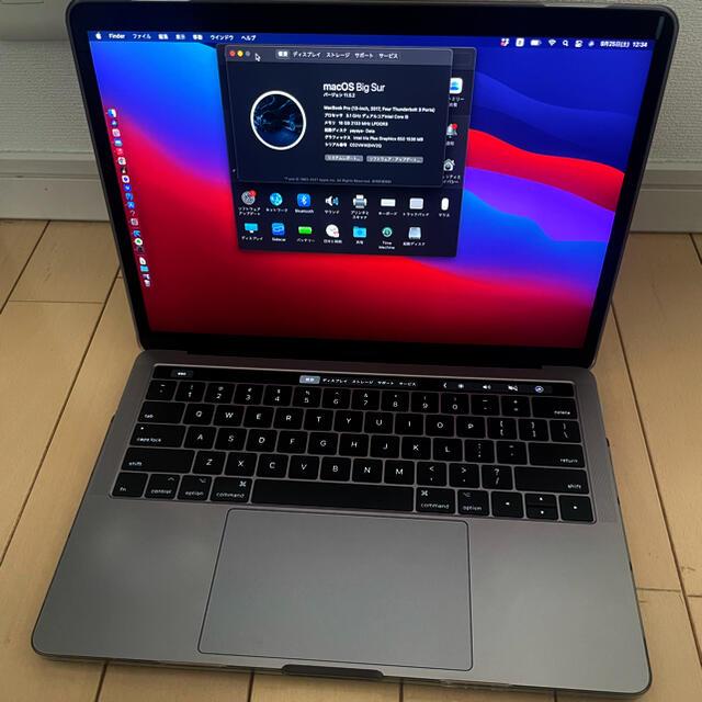 Apple(アップル)のMacBook pro 13インチ タッチバー2017モデル スペースグレー スマホ/家電/カメラのPC/タブレット(ノートPC)の商品写真