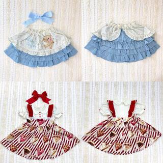 Shirley Temple - シャーリーテンプル アメリカンパイワンピース くまちゃんエプロン付きスカート