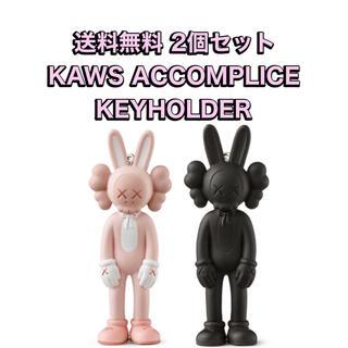 MEDICOM TOY - kaws展限定 フィギュア キーホルダー black ブラック ベアブリック