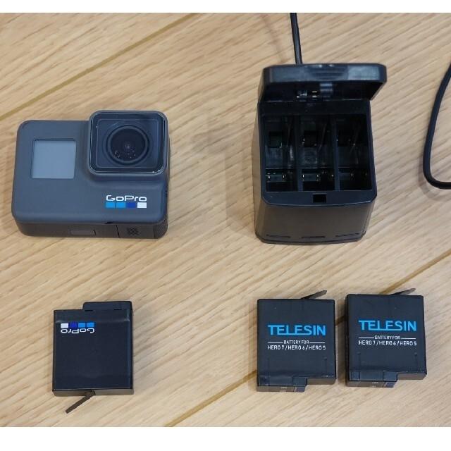 GoPro(ゴープロ)のGoPro HERO6 BLACKおまけ付(shorty、マイクアダプター等) スマホ/家電/カメラのカメラ(ビデオカメラ)の商品写真