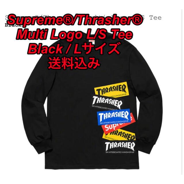 Supreme(シュプリーム)のSupreme®/Thrasher® Multi Logo L/S Tee L メンズのトップス(Tシャツ/カットソー(七分/長袖))の商品写真