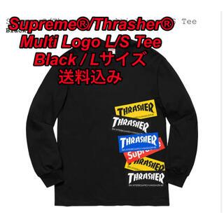 Supreme - Supreme®/Thrasher® Multi Logo L/S Tee L